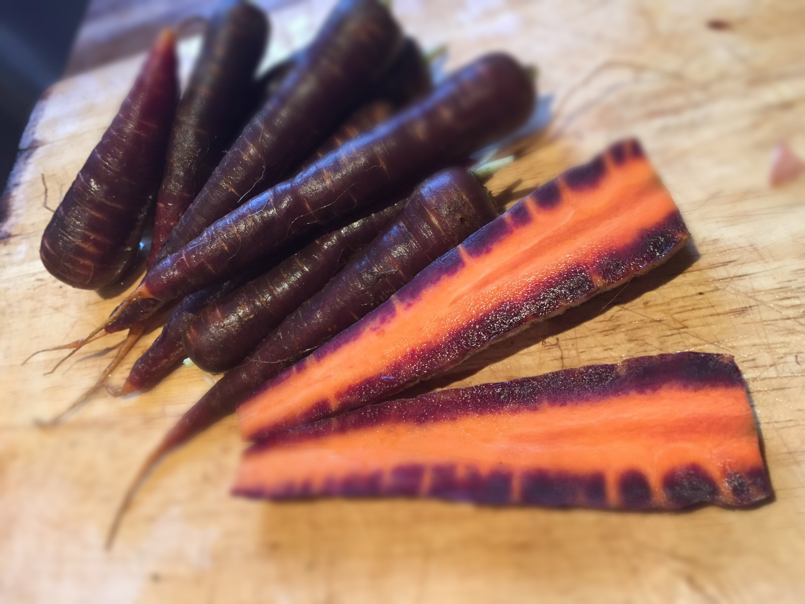 Purple carrots flesh