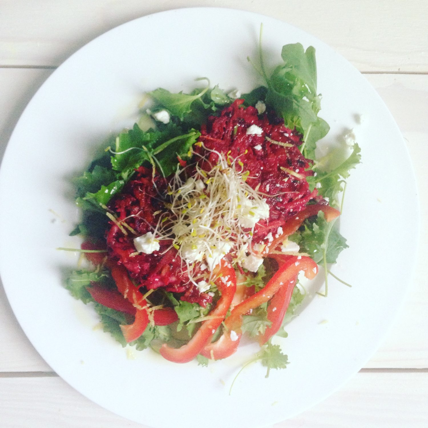 Celeriac and Beetroot fritters
