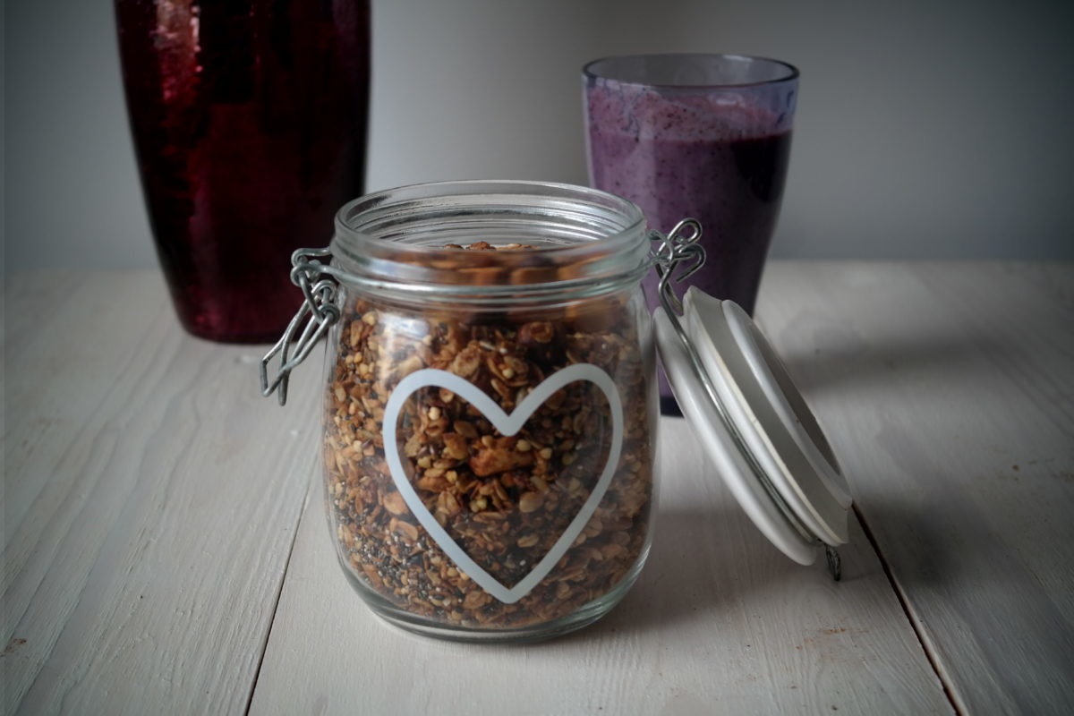 Healthy oat buckwheat granola recipe