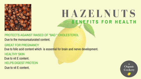 Hazelnuts health benefits